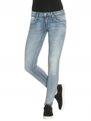 Herrlicher Touch Slim Denim Powerstretch Jeans hellblau
