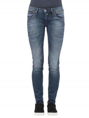 Herrlicher Touch Slim Denim Powerstretch Jeans mittelblau