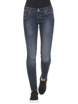 Herrlicher Touch Slim Denim Powerstretch Jeans blau