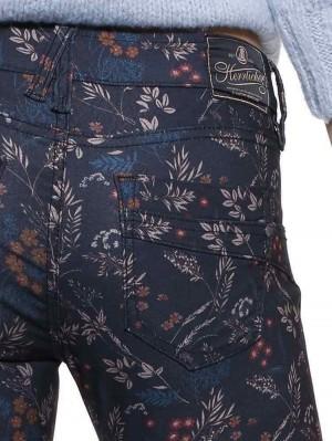 Herrlicher Touch Slim Hose mit Blumenmuster