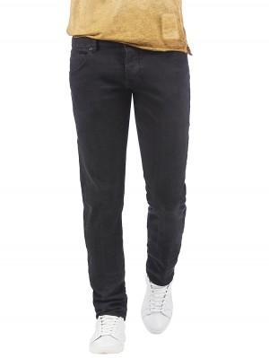 Herrlicher Tyler Tapered Denim Stretch Jeans schwarz vorne