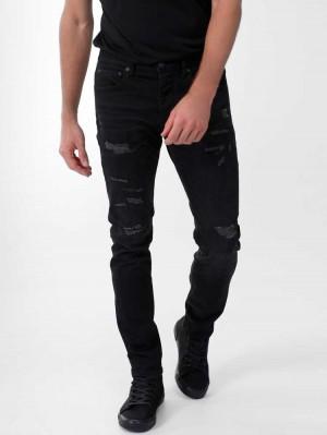 Herrlicher Tyler Tapered Black Destroyed Jeans