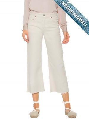 Herrlicher Norma Sailor Cropped White Jeans