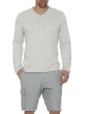 Herrlicher Alan Baumwoll-Pullover Melange