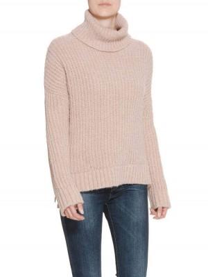 Herrlicher Anika Wool Mix Pullover rosa