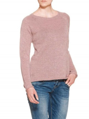 Herrlicher Akaya Plain Acryl Mix Pullover rosa
