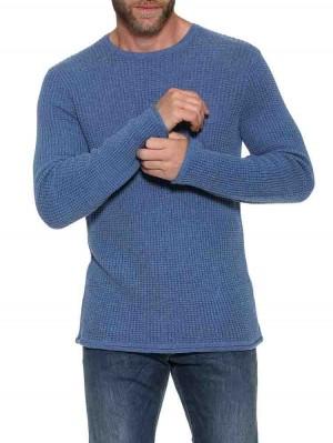Herrlicher Fred Baumwoll-Pullover mit Waffel-Struktur