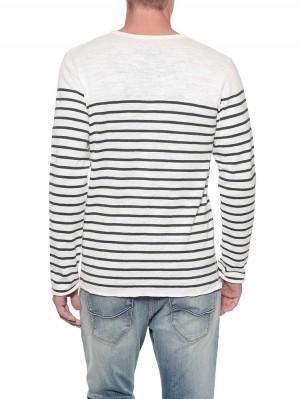 Herrlicher Til Pullover aus Baumwoll-Leinen-Mix mit Streifen