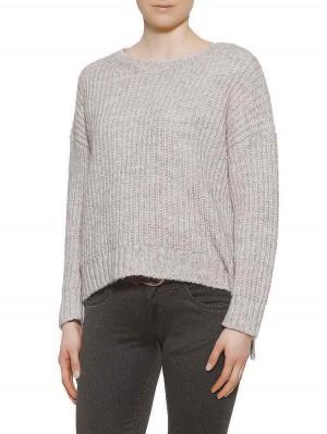 Herrlicher Nellina Wool-MIx-Pullover beige meliert