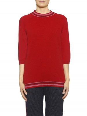 Herrlicher Sunja Woll-MIx-Pullover rot
