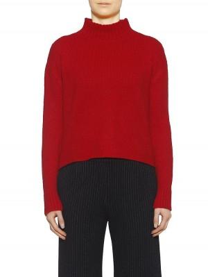 Herrlicher Tjarda Woll-Mix-Pullover rot vorne
