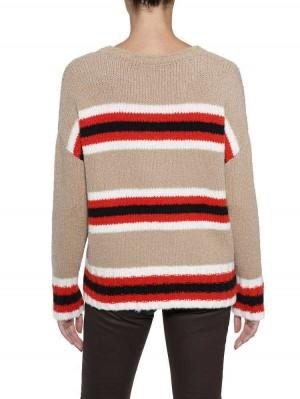 Herrlicher Karina Wollmix-Pullover mit Colour-Blocking-Streifen
