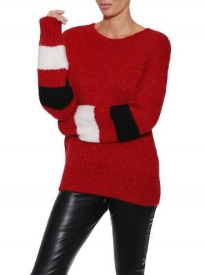 Herrlicher Karina Wollmix-Pullover mit Streifen