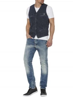 Herrlicher Tyrone Jeansweste mit Streifen