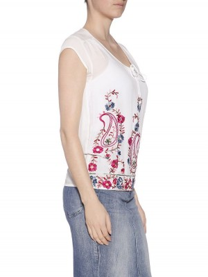 Herrlicher Leony Embroidered rayon Top