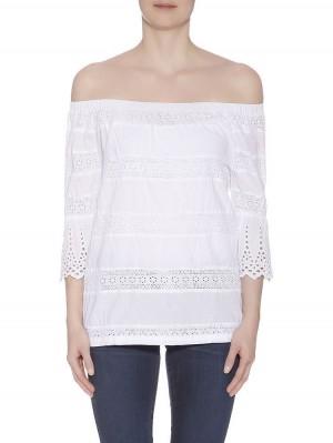 Herrlicher Jillien Cotton Lace Mix Farbe white