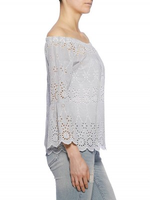 Herrlicher Jillien Embroidered Stripe Bluse