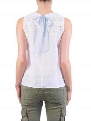 Herrlicher Ines Cotton Lace Top weiß hinten