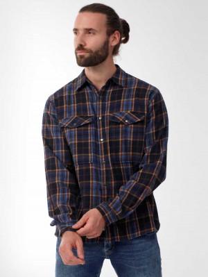 Herrlicher Eddy Baumwollhemd mit Karo-Muster