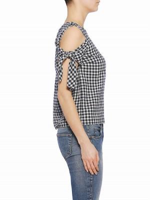 Herrlicher Nia Cotton Check Bluse