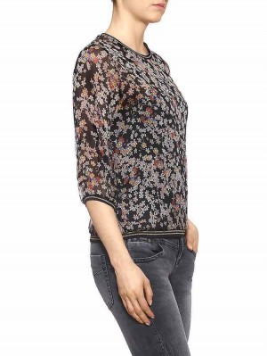 Herrlicher Layana Chiffon Bluse mit Blumenprint