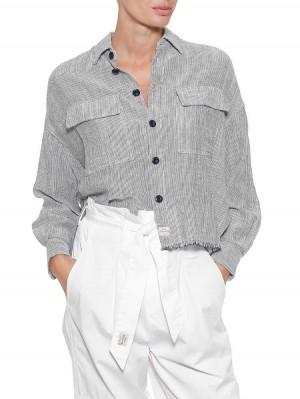 Herrlicher Lash Leinen Hemdbluse mit Streifen