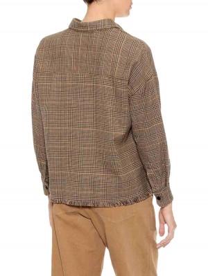 Herrlicher Lash Baumwollhemd mit Glencheck-Karomuster