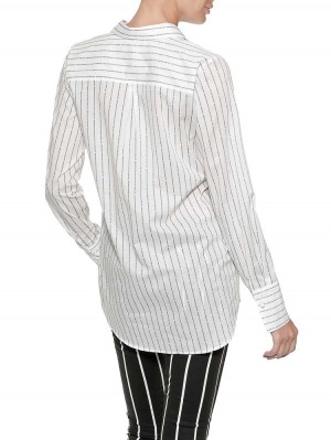 Herrlicher Viktoria Baumwoll-Bluse mit Logo-Streifen