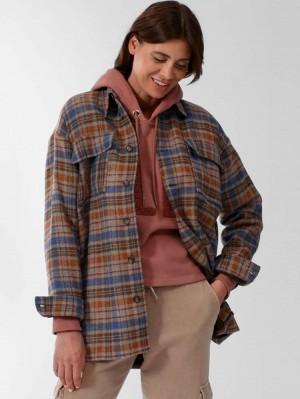 Herrlicher Amazone Oversized Hemdjacke mit Wolle