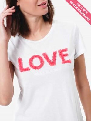 Herrlicher Kendall Shirt mit Love-Stickerei