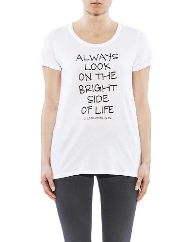 Herrlicher Layla Jersey T-Shirt weiß vorne