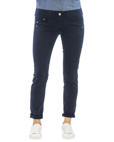 Herrlicher Gila Slim Gabardine Stretch Jeans dunkelblau vorne
