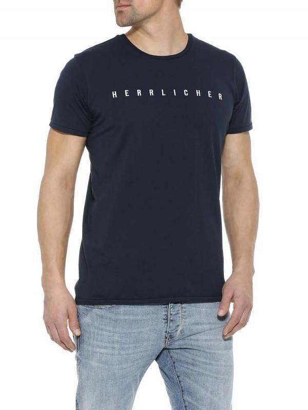 Herrlicher Blaustoff Herren T-Shirt BASE Hellgrau Größe S NEU