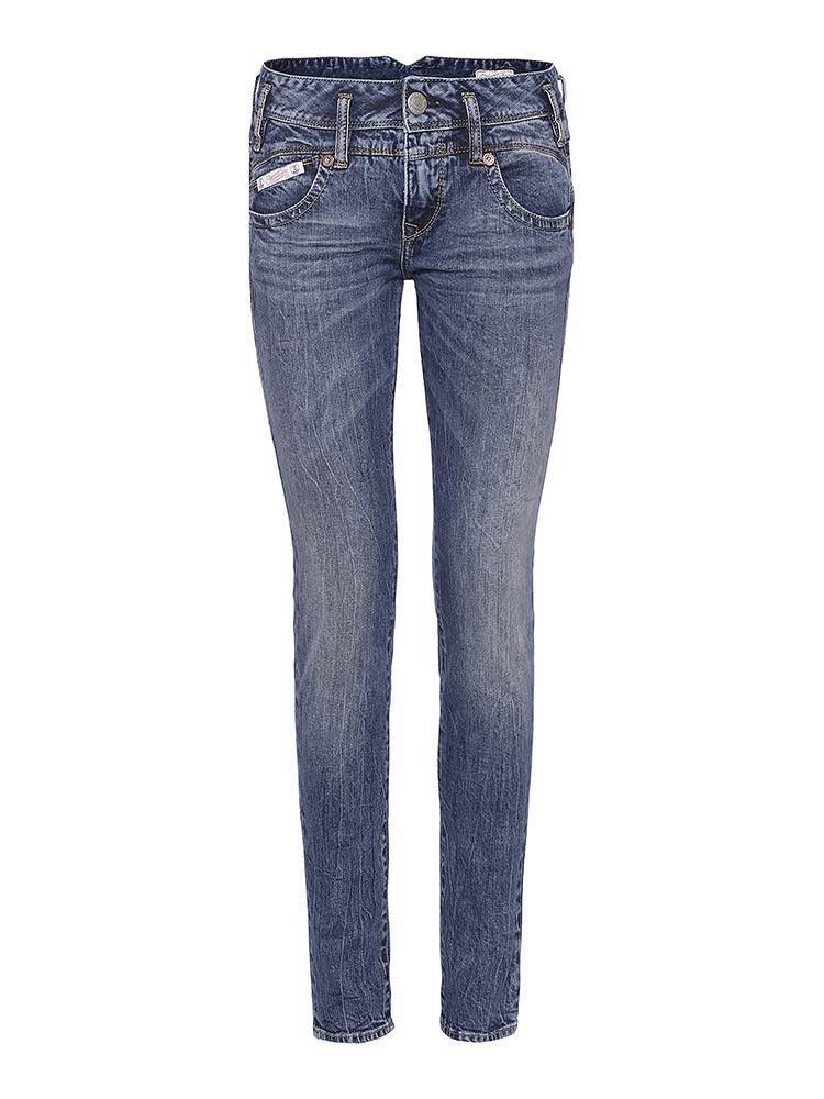 Herrlicher Jeans mit mittelhohem Bund in Blau
