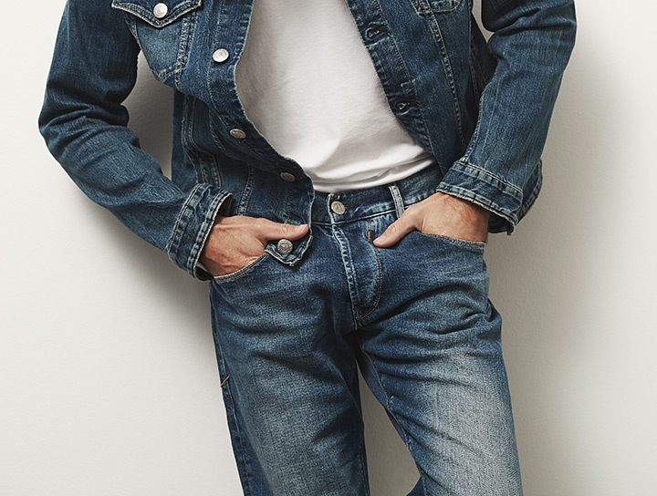 Herren Jeans in blau