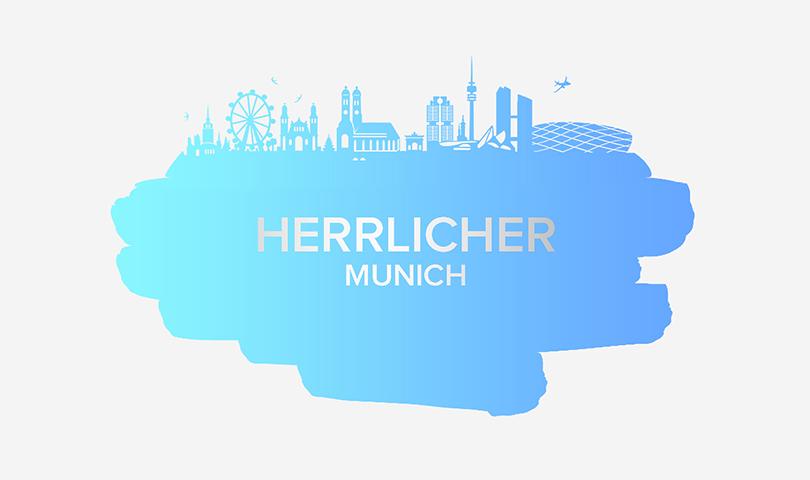 Grafik der Stadt München in Blau