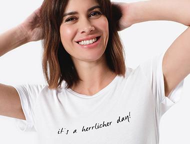 Oversize Damen T-Shirt weiß