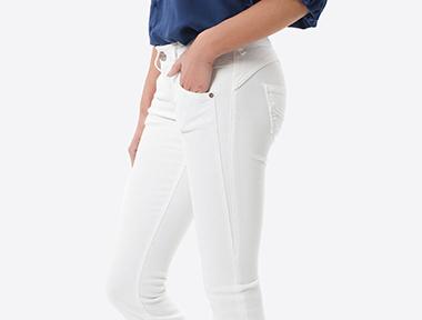 Weiße Herrlicher Damen Hose