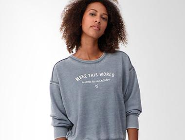 Herrlicher Damen Sweatshirt